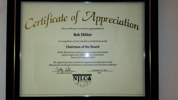 NJLCA Recognizes Bob Hibler of Gamka Sales