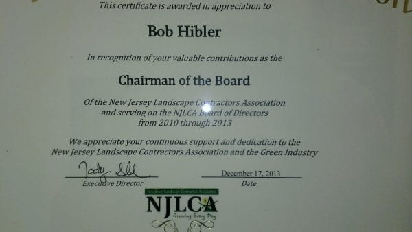 NJLCA Recognizes Bob Hibler of Gamka Sales