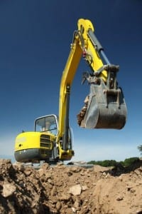 Excavator-on-Job Construction Equipment