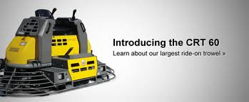 Wacker Neuson Ride-On Trowels - CRT-60 - Concrete Technology at its finest