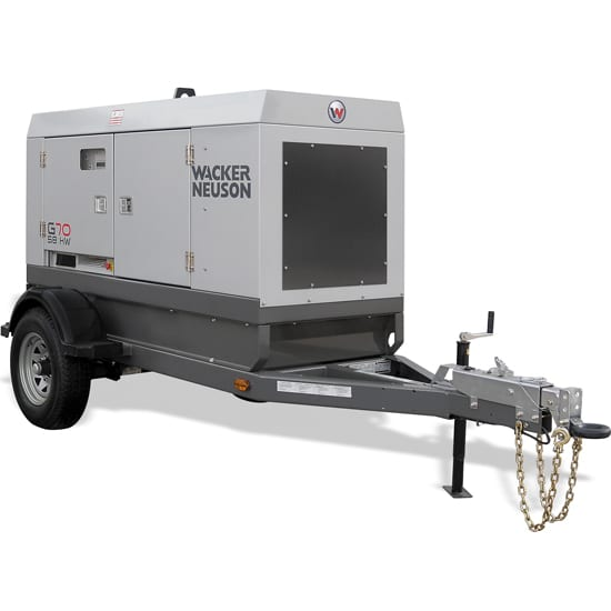 Wacker Neuson G70 Mobile Generators - Trailer Mounted