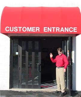 customer entrance
